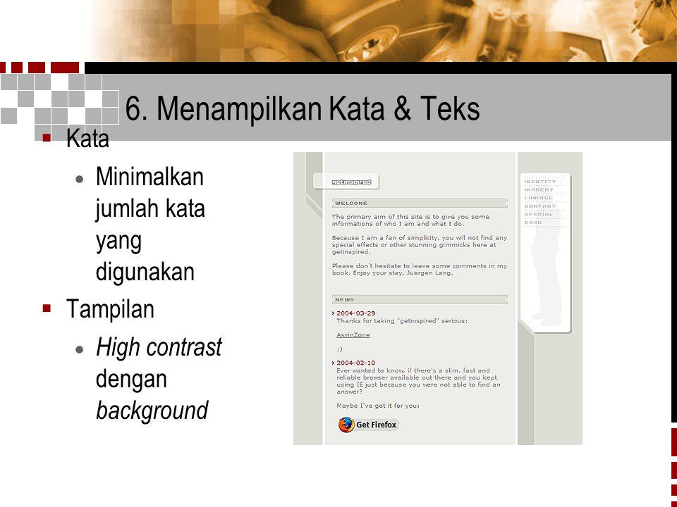 6. Menampilkan Kata & Teks