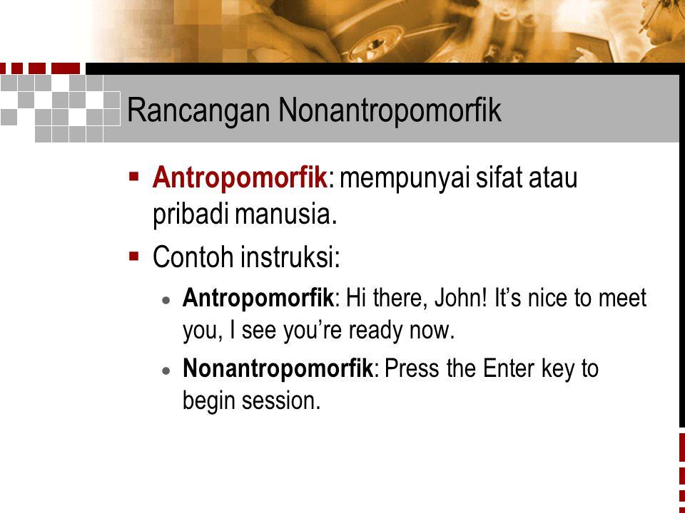 Rancangan Nonantropomorfik