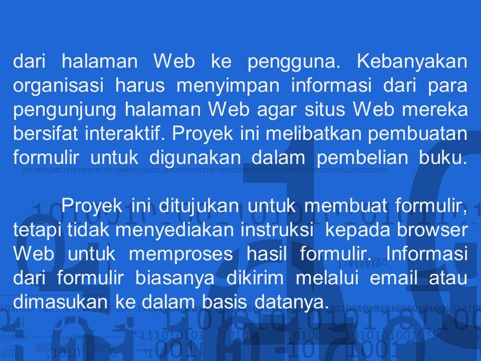 dari halaman Web ke pengguna