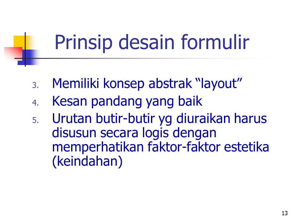 Prinsip desain formulir