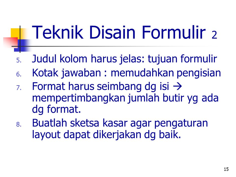 Teknik Disain Formulir 2