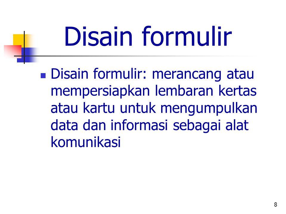 Disain formulir