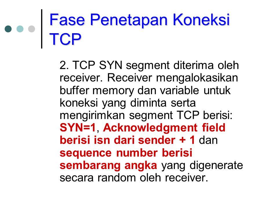 Fase Penetapan Koneksi TCP