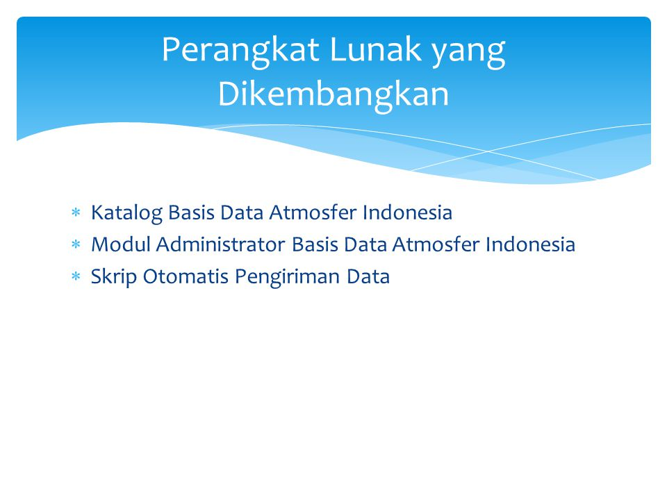 Katalog Basis Data Atmosfer Indonesia (1)
