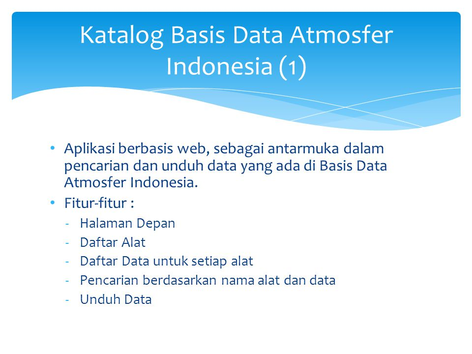 Katalog Basis Data Atmosfer Indonesia (2)