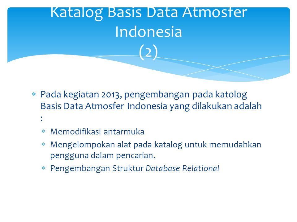 Katalog Basis Data Atmosfer Indonesia (3)