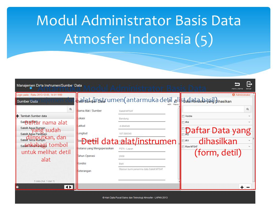 Modul Administrator Basis Data Atmosfer Indonesia (6)