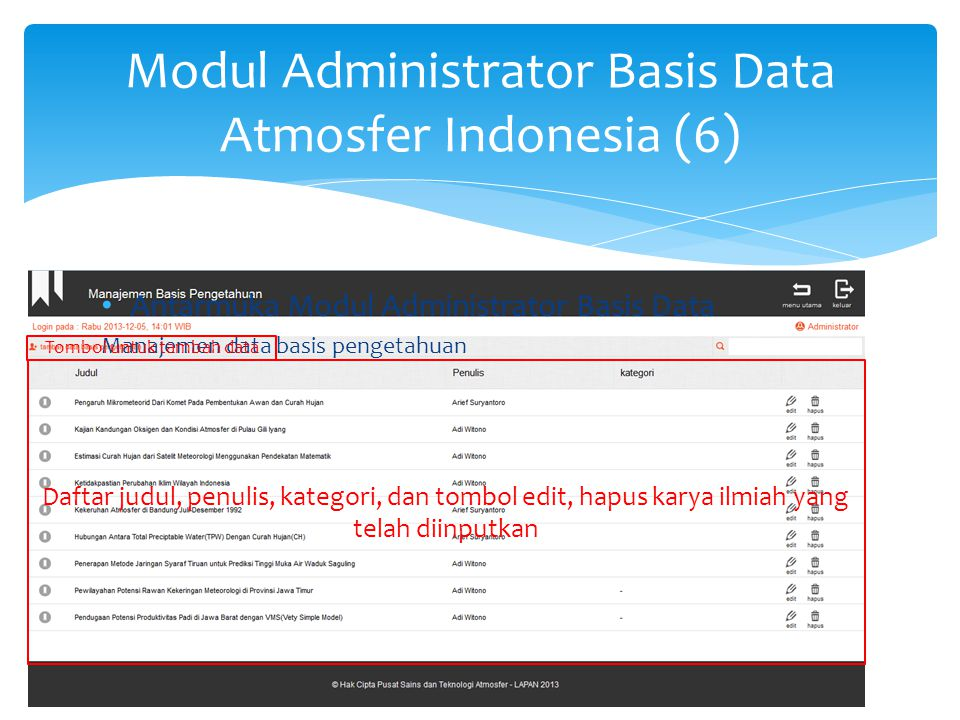 Modul Administrator Basis Data Atmosfer Indonesia (7)