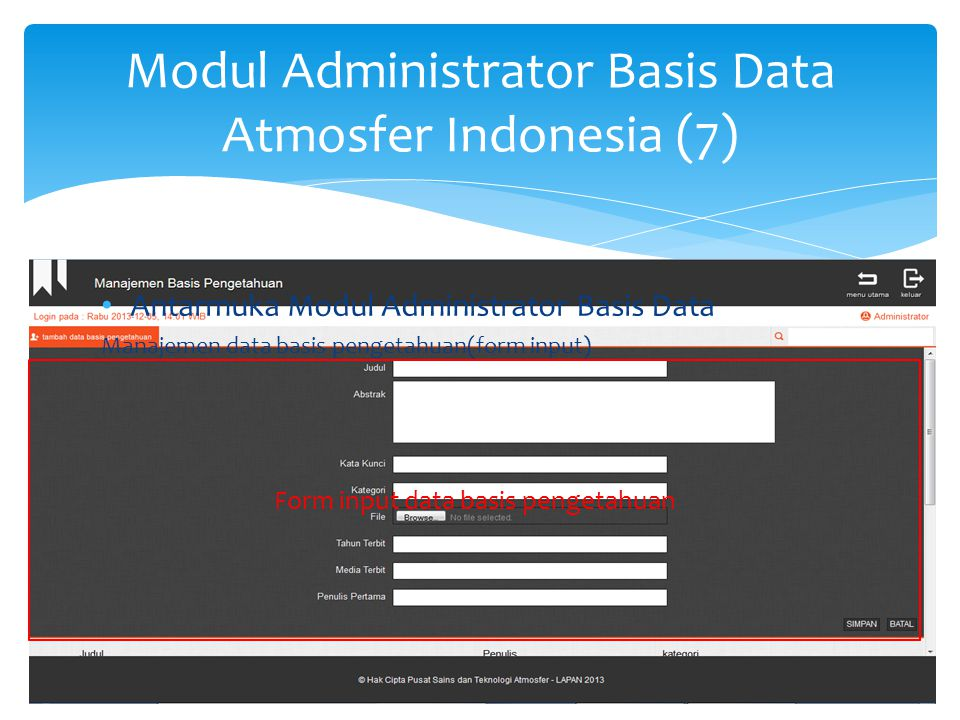 Modul Administrator Basis Data Atmosfer Indonesia (8)