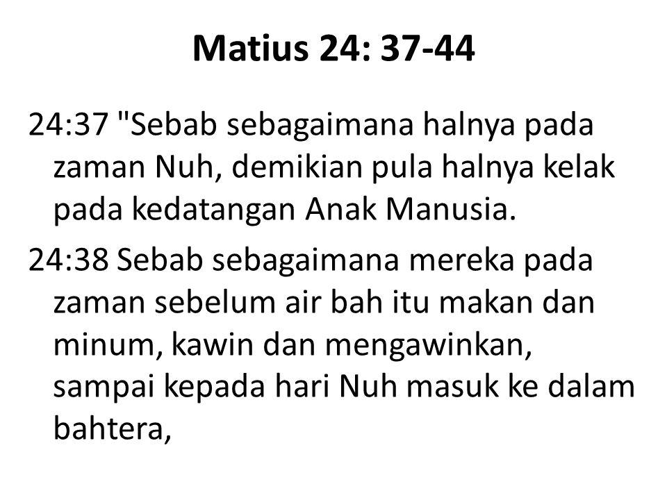 Matius 24: 37-44