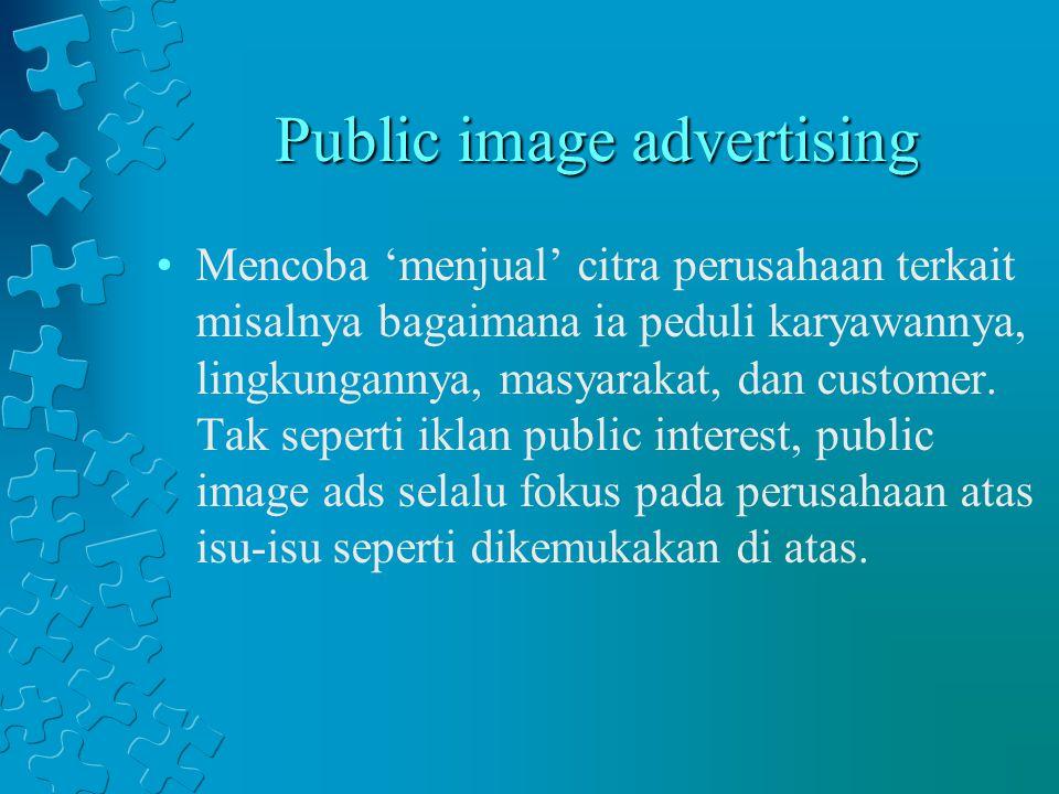 Public image advertising