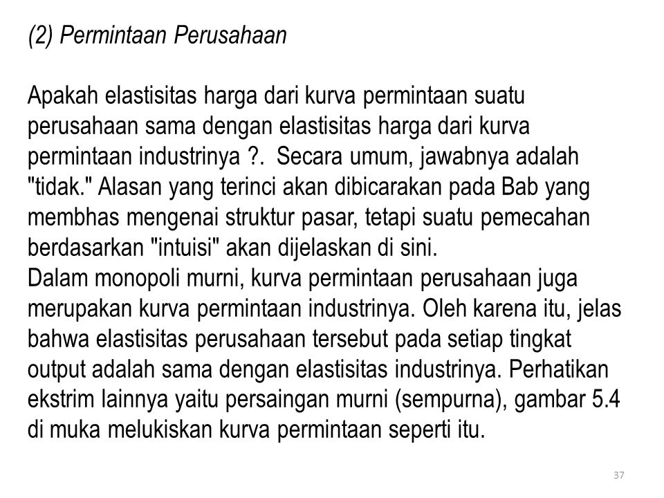(2) Permintaan Perusahaan
