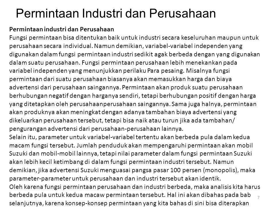 Permintaan Industri dan Perusahaan