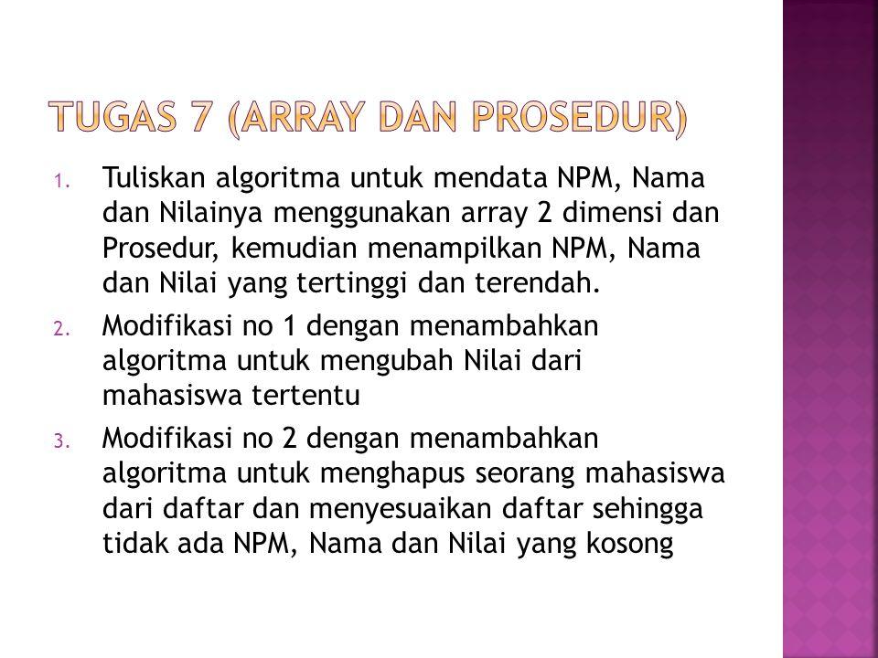 TUGas 7 (array dan prosedur)