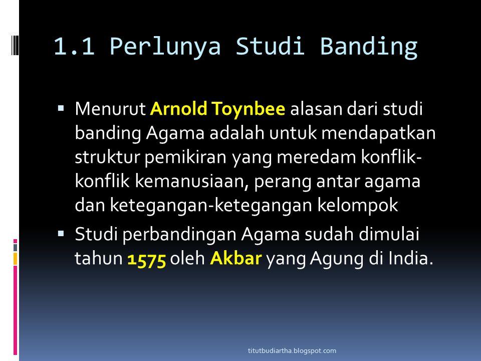 1.1 Perlunya Studi Banding