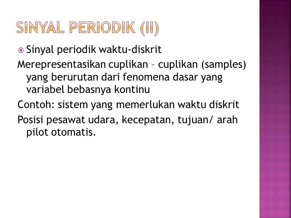 SINYAL PERIODIK (ii) Sinyal periodik waktu-diskrit