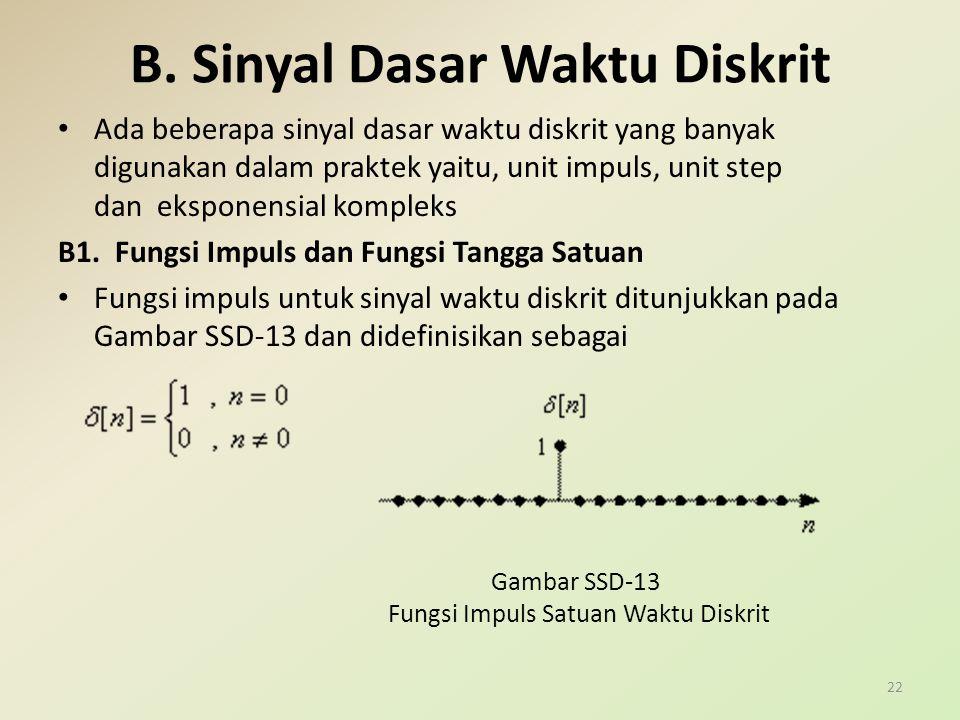 B. Sinyal Dasar Waktu Diskrit