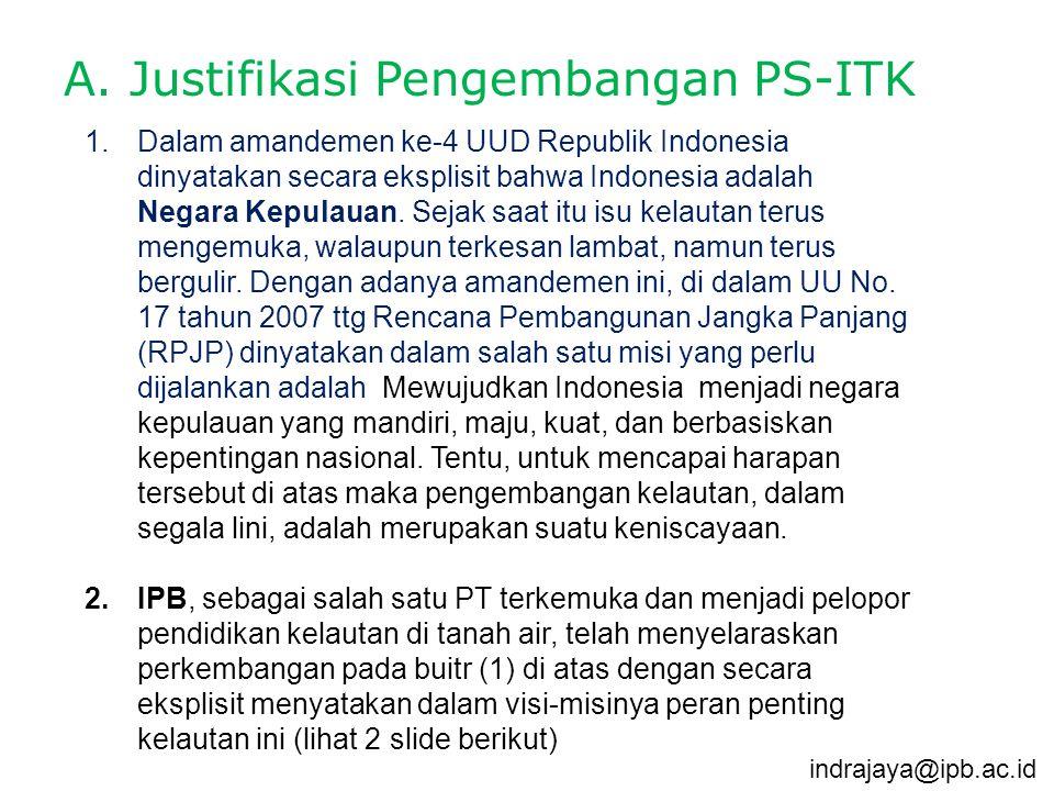 A. Justifikasi Pengembangan PS-ITK
