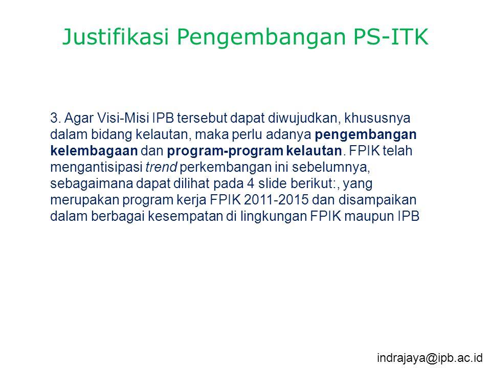 Justifikasi Pengembangan PS-ITK