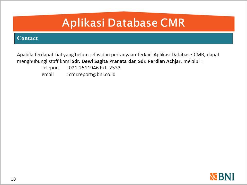 Aplikasi Database CMR Contact