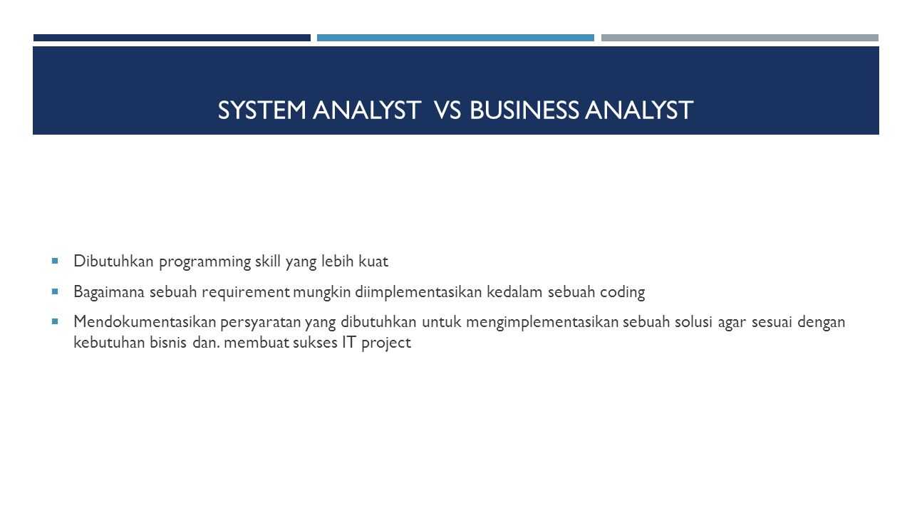 System AnalysT vs Business Analyst