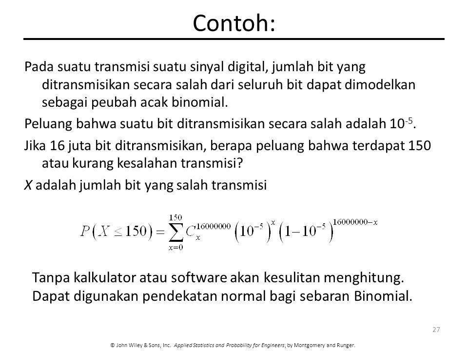 Contoh: Tanpa kalkulator atau software akan kesulitan menghitung.