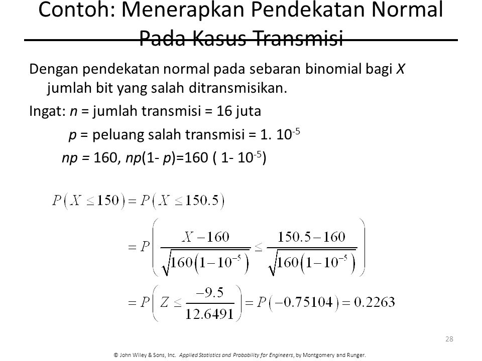 Contoh: Menerapkan Pendekatan Normal Pada Kasus Transmisi