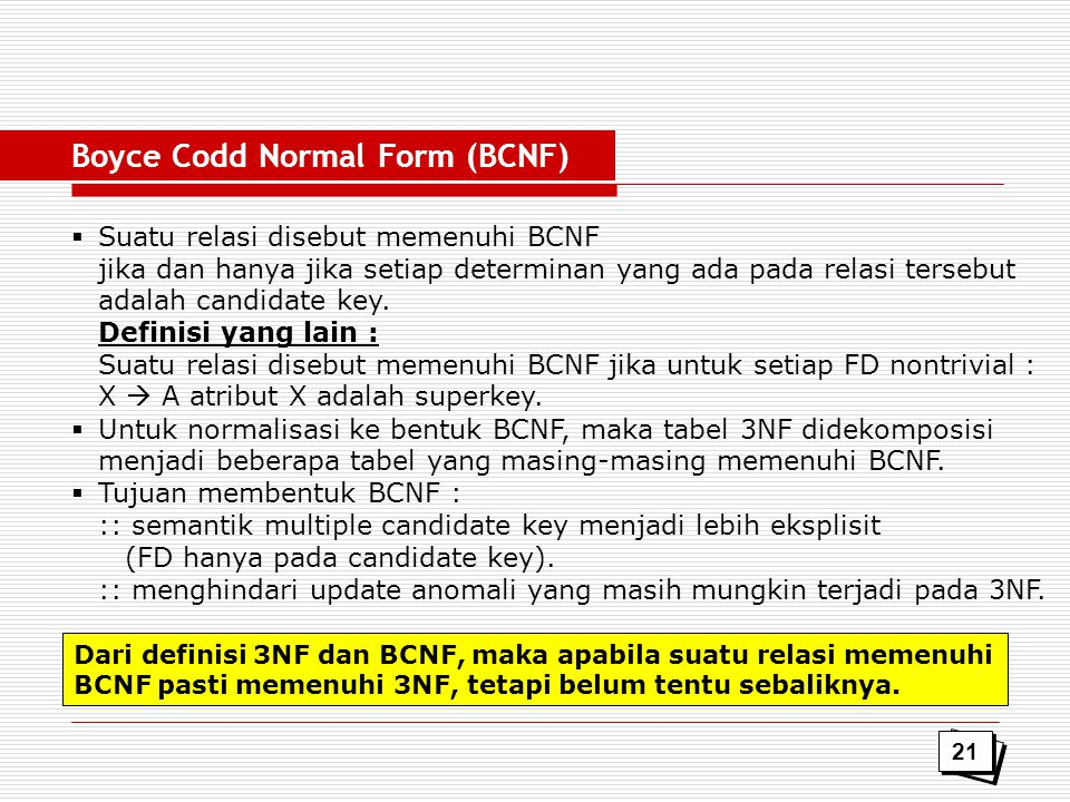 Boyce Codd Normal Form (BCNF)