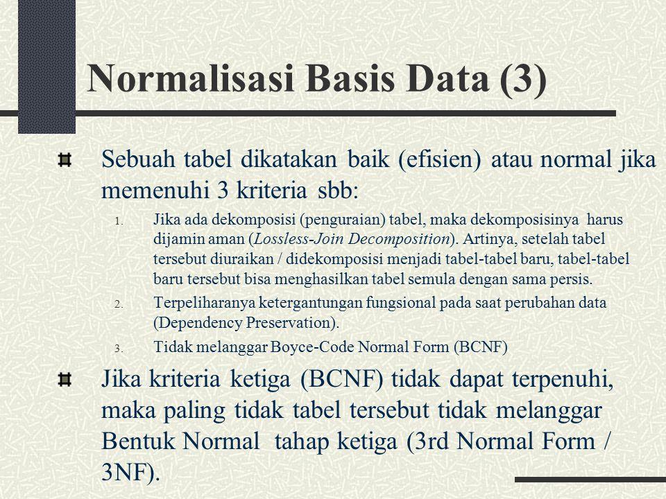 Normalisasi Basis Data (3)