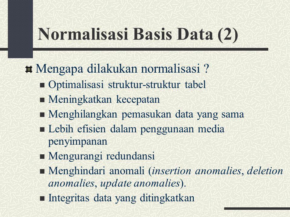 Normalisasi Basis Data (2)