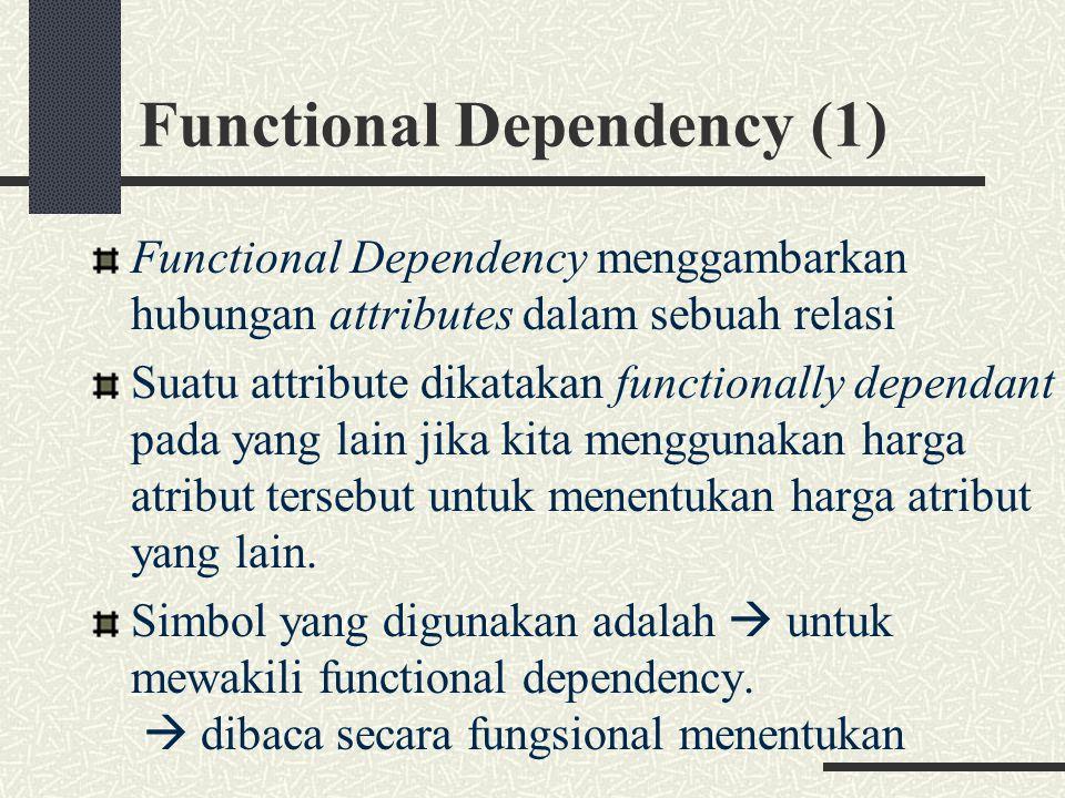 Functional Dependency (1)