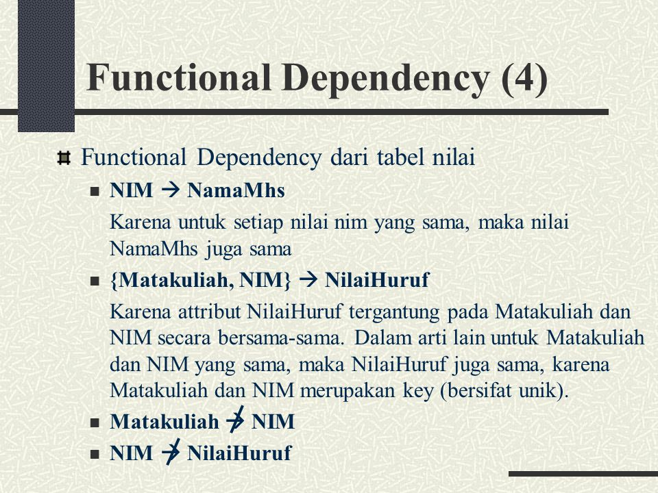 Functional Dependency (4)