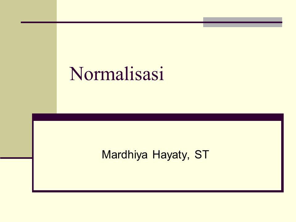 Normalisasi Mardhiya Hayaty, ST