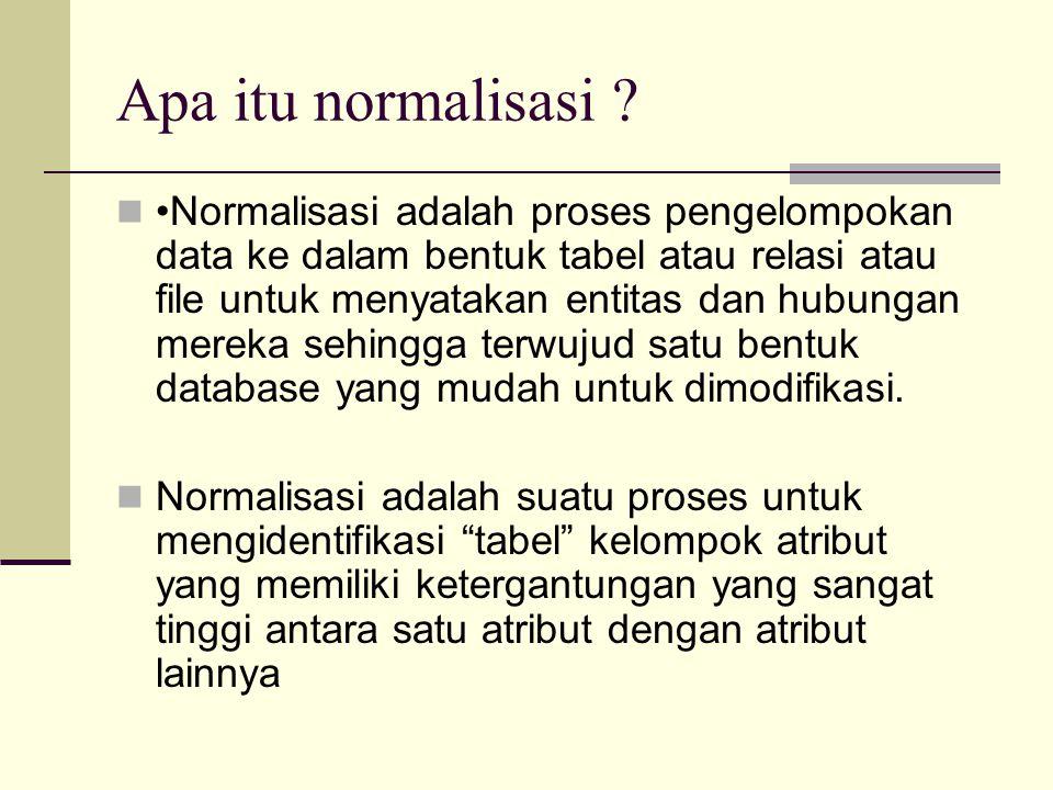 Apa itu normalisasi