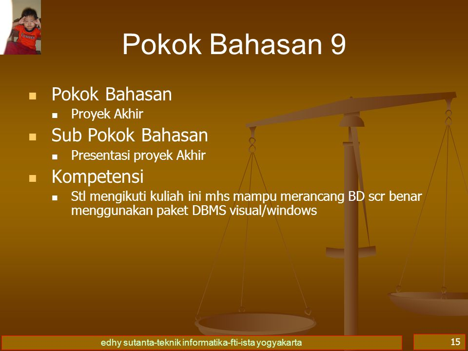 Pokok Bahasan 9 Pokok Bahasan Sub Pokok Bahasan Kompetensi