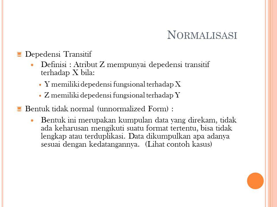 Normalisasi Depedensi Transitif