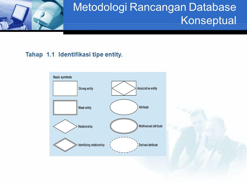 Metodologi Rancangan Database Konseptual