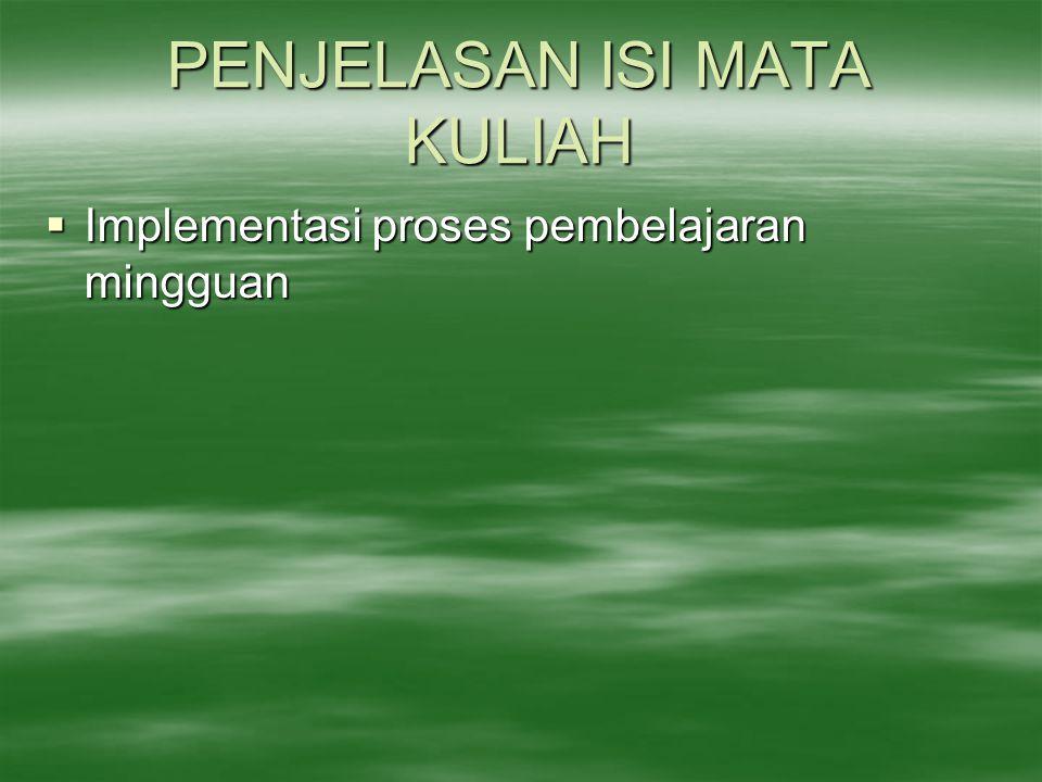 PENJELASAN ISI MATA KULIAH