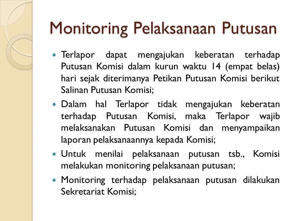 Monitoring Pelaksanaan Putusan