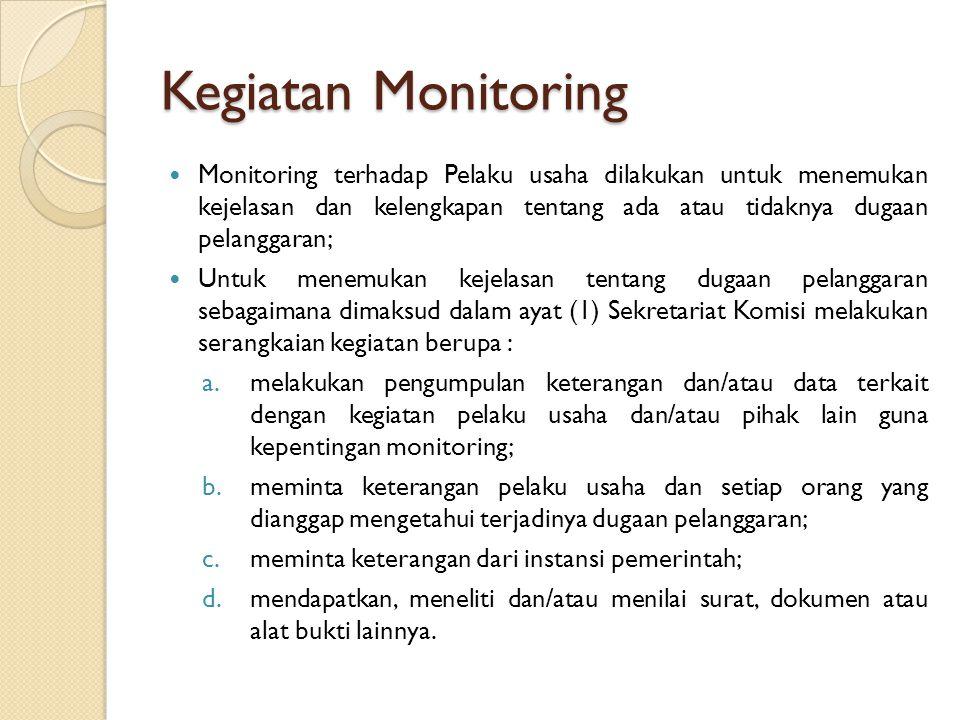Kegiatan Monitoring