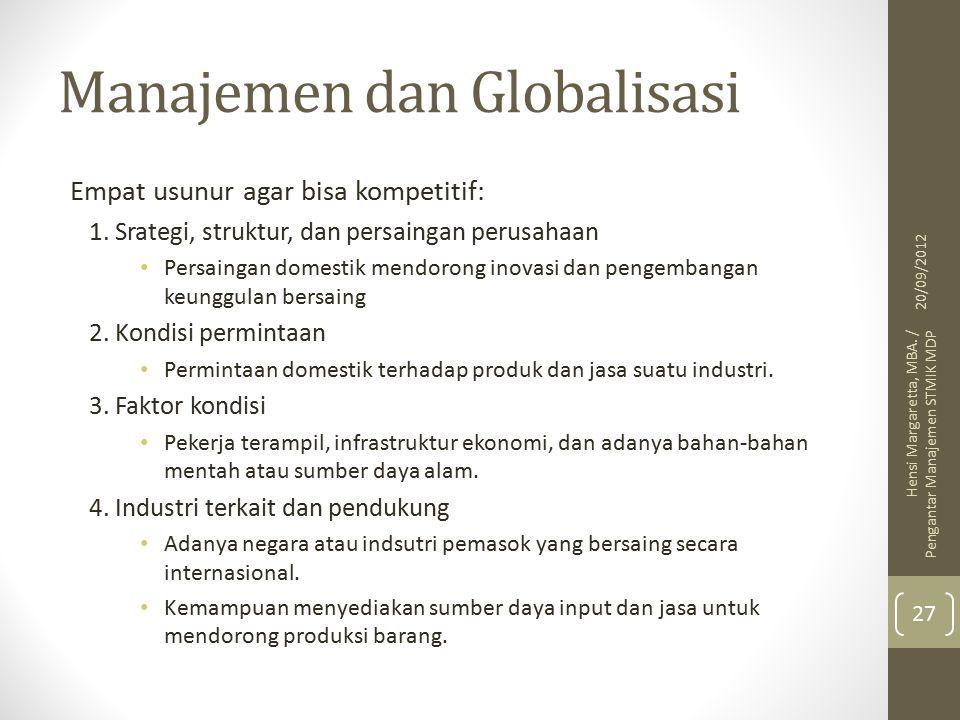 Manajemen dan Globalisasi