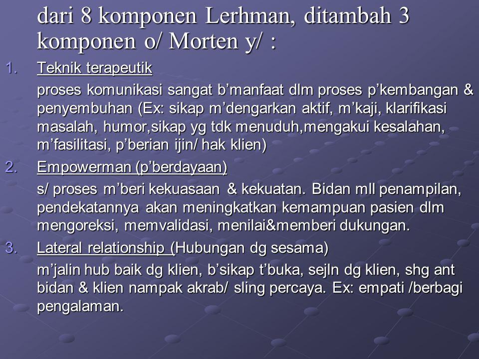 dari 8 komponen Lerhman, ditambah 3 komponen o/ Morten y/ :