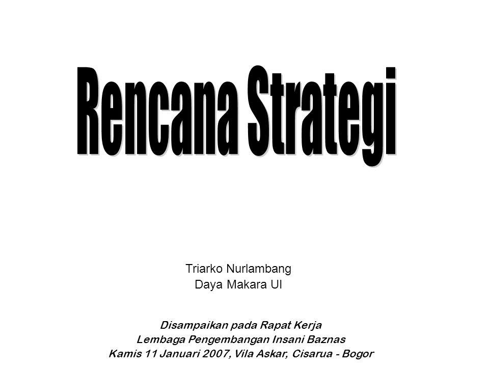 Rencana Strategi Triarko Nurlambang Daya Makara UI