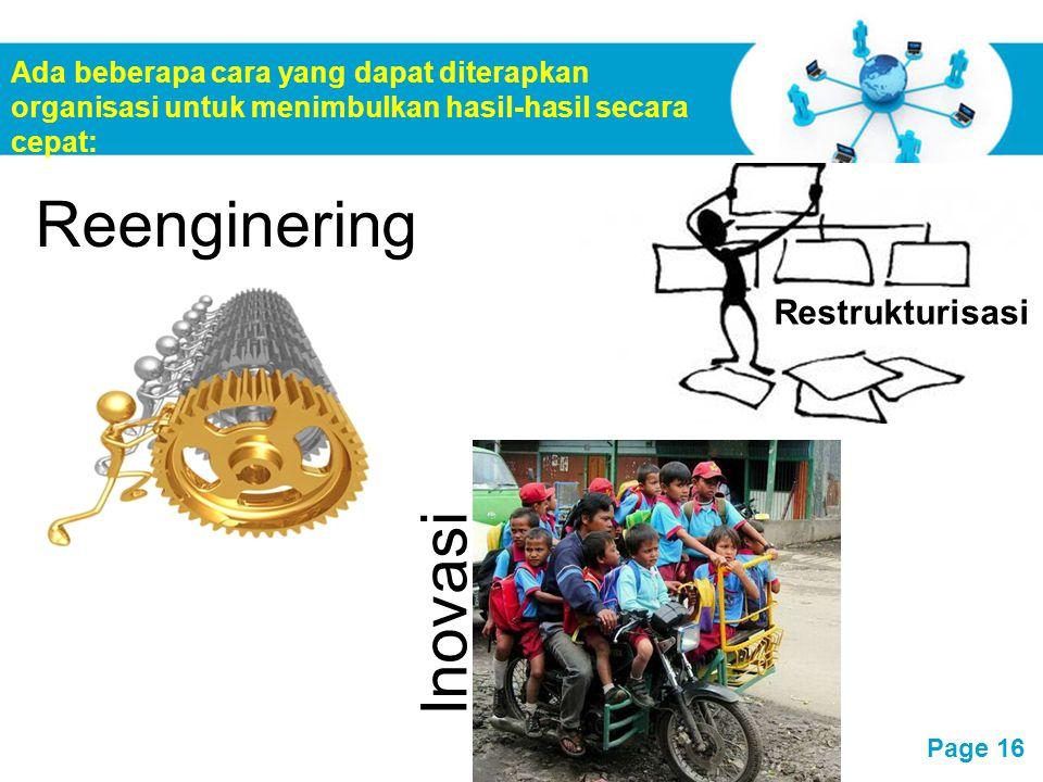Reenginering Inovasi Restrukturisasi