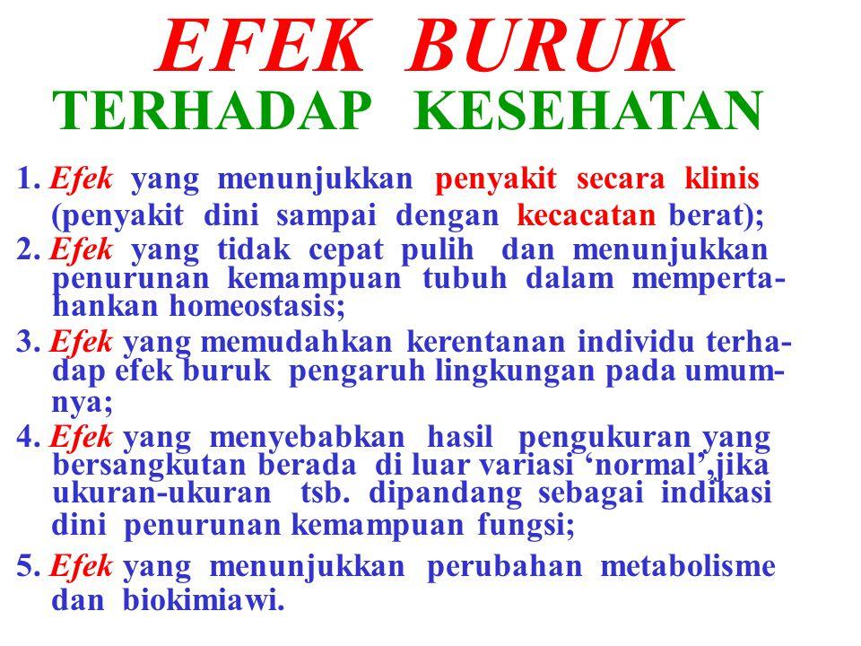 EFEK BURUK TERHADAP KESEHATAN