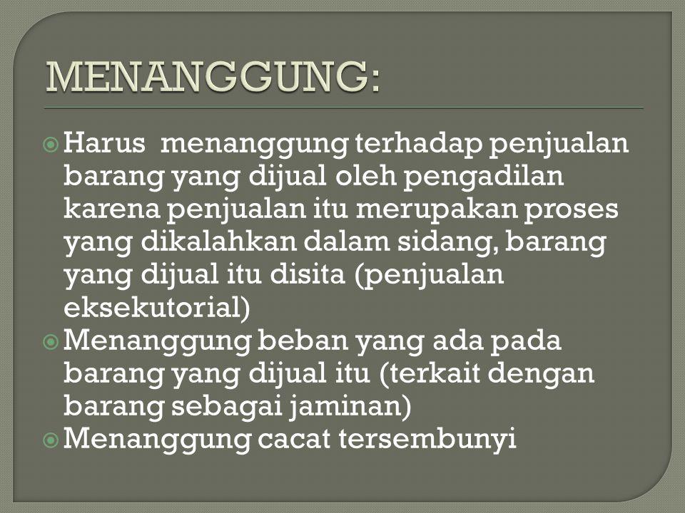 MENANGGUNG: