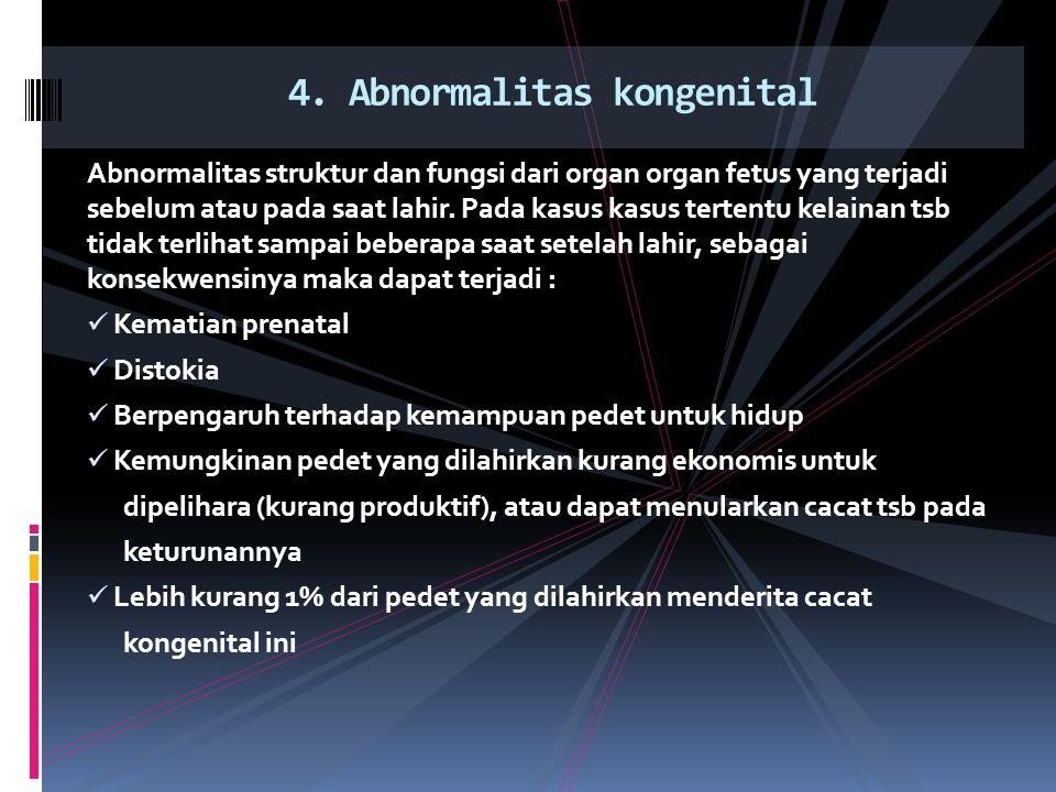 4. Abnormalitas kongenital