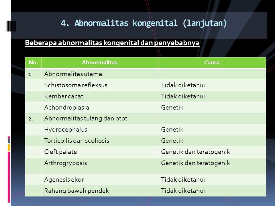 4. Abnormalitas kongenital (lanjutan)