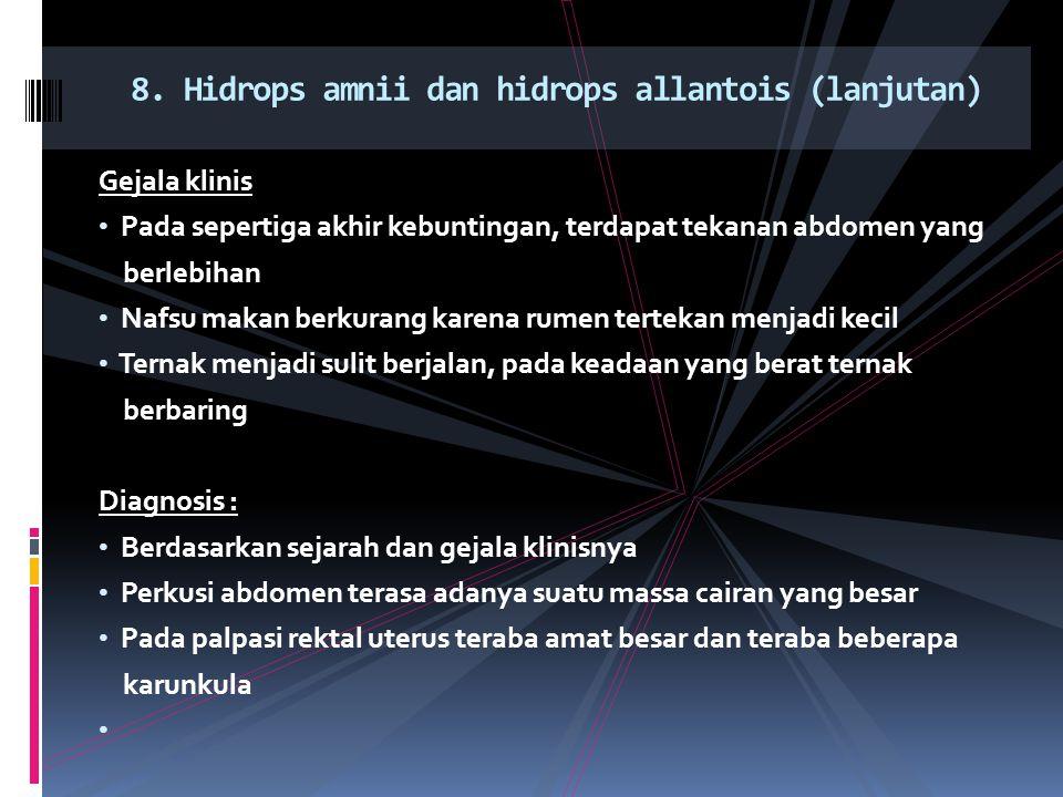 8. Hidrops amnii dan hidrops allantois (lanjutan)