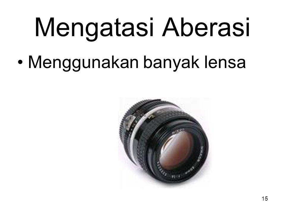 Mengatasi Aberasi Menggunakan banyak lensa